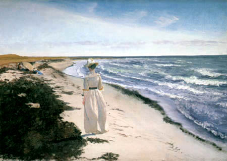 Lauritz Andersen Ring - A Lady on the beach