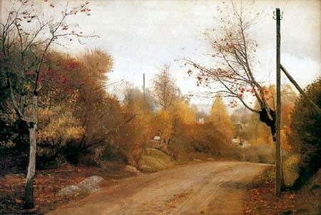 Lauritz Andersen Ring - Landstraße im Herbst