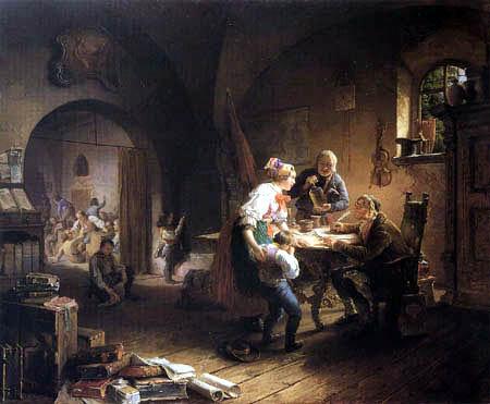 Eduard Ritter - The village school