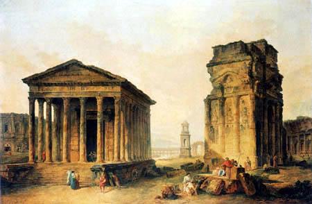Hubert Robert - Las ruines de Nîmes