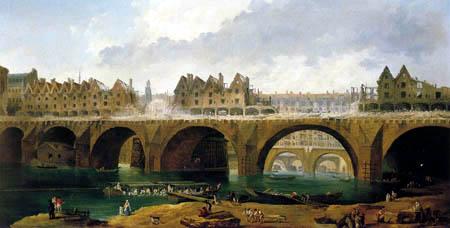Hubert Robert - Abbruchhäuser auf der Notre-Dame Brücke