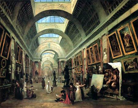 Hubert Robert - Des projets du Louvre