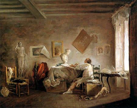 Hubert Robert - Das Atelier des Malers