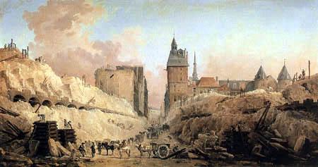 Hubert Robert - Démolition de la maison dans le Pont-au-Change