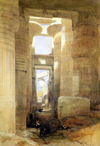 David Roberts - The Temple of Amon, Karnak