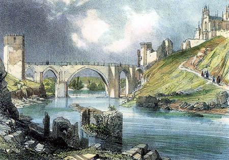 David Roberts - The bridge of Toledo