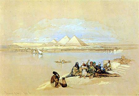 David Roberts - The pyramids of Gizeh