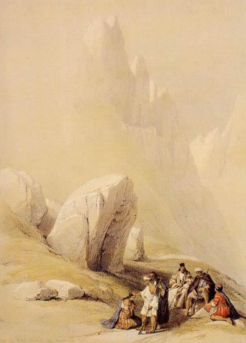 David Roberts - The rock of the Moses