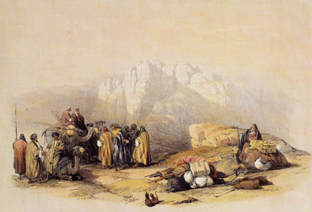 David Roberts - At the grave of the Aaron