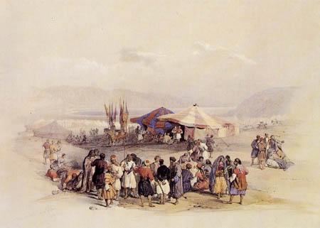 David Roberts - Pilgerlager bei Jericho