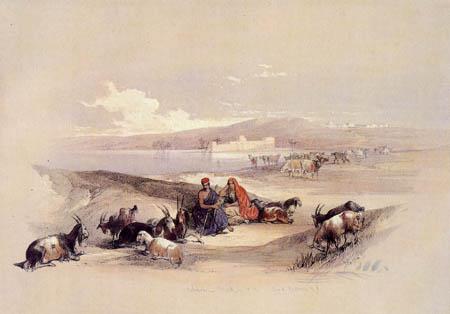 David Roberts - The life of the shepherds in Asdod