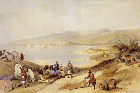 David Roberts - Blick auf Sidon