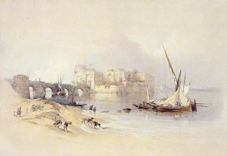 David Roberts - The citadel of Sidon