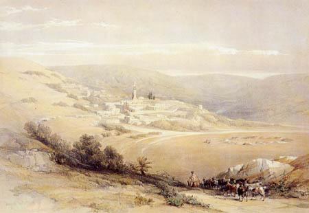 David Roberts - Blick auf Nazareth