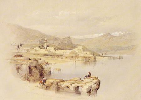 David Roberts - The Lake of Tiberias