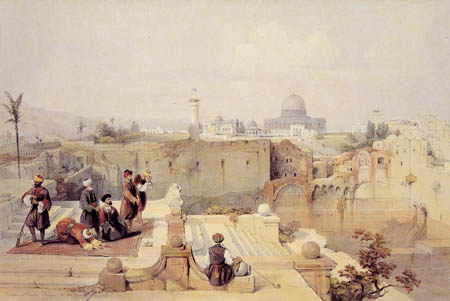 David Roberts - Die Omarmoschee in Jerusalem