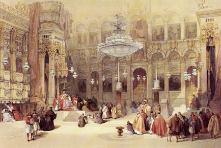 David Roberts - Interior of the Church of Holy Sepulchre