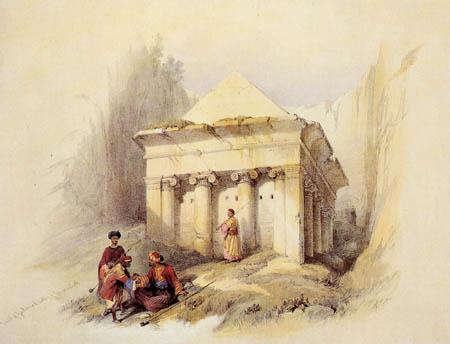 David Roberts - The gravesite of Sacharja, Jerusalem