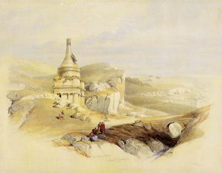 David Roberts - The column of the Absalom, Jerusalem