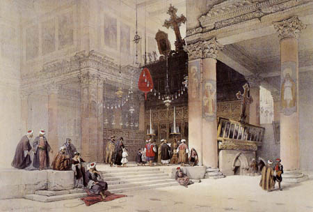 David Roberts - The birth church in Bethlehem