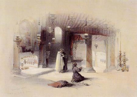 David Roberts - The birth grotto in Bethlehem