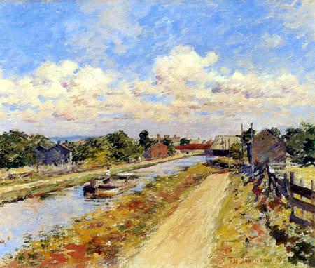 Theodore Robinson - Port Ben am Hudson-Kanal