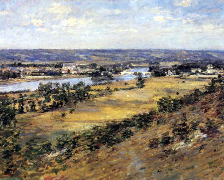 Theodore Robinson - Valley of the Seine from Giverny Hights