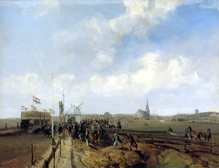 Charles Rochussen - Pferderennen in Scheveningen