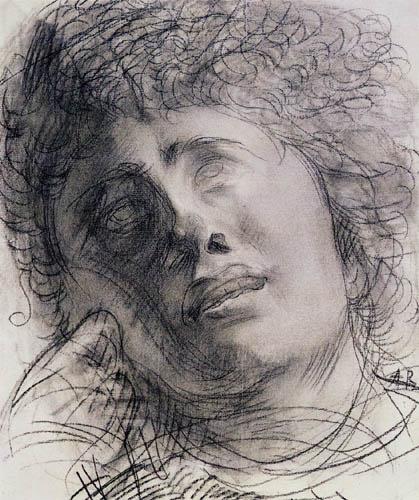 Auguste Rodin - Head study