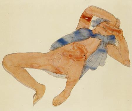 Auguste Rodin - Liegende entblößte Frau