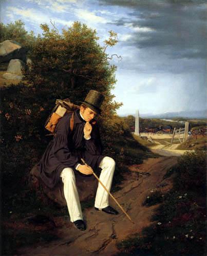 Jørgen Roed - An Artist Resting by the Roadside