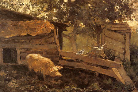 Willem Roelofs - At the Farm