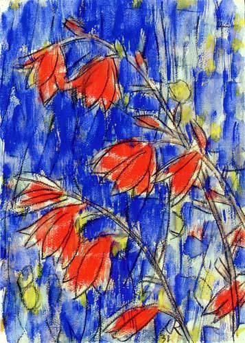 Christian Rohlfs - Rote Blumen