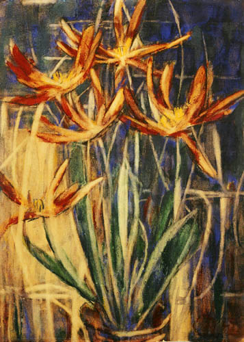 Christian Rohlfs - Rote Tulpen