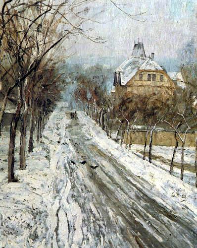 Christian Rohlfs - Berkaer Straße im Winter