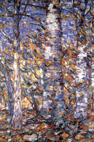 Christian Rohlfs - Birch forest