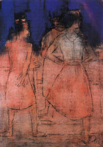 Christian Rohlfs - Three Girls