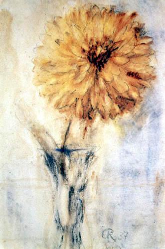 Christian Rohlfs - Yellow dahlia