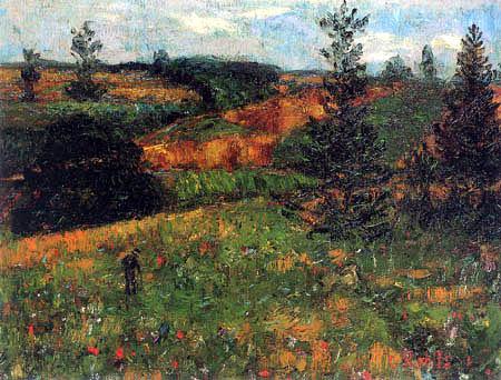 Christian Rohlfs - Landschaft mit Tannen