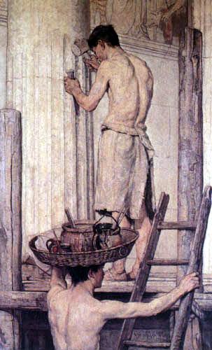Christian Rohlfs - Roman building workers