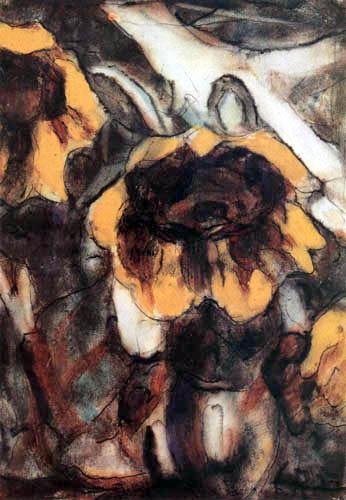 Christian Rohlfs - Sonnenblumen III