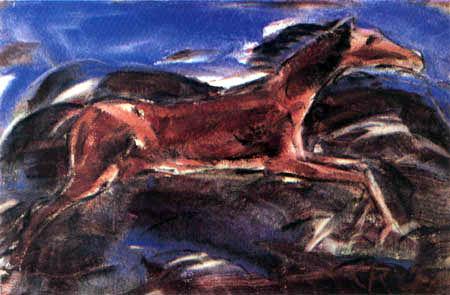 Christian Rohlfs - Springende Pferde