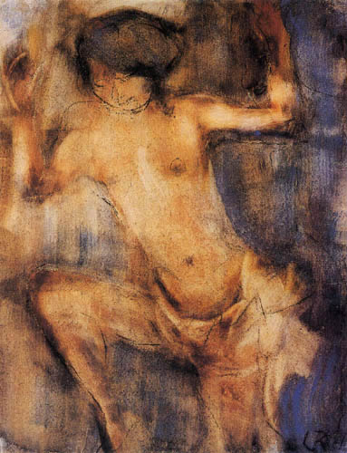 Christian Rohlfs - Dancing Nude