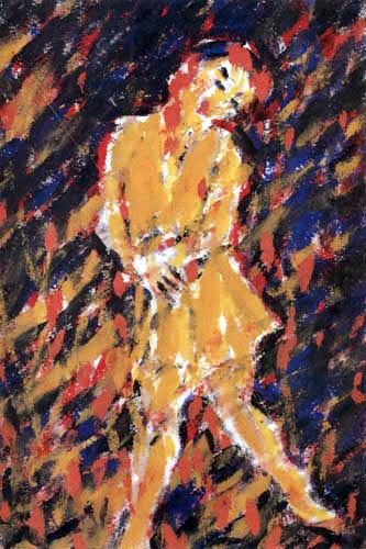 Christian Rohlfs - Tatjana Zyklus - Der Tanz mit der Maske II