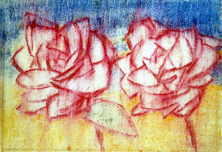 Christian Rohlfs - Two Roses