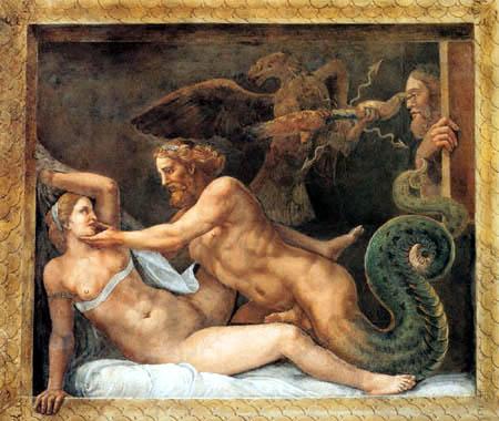 Giulio Romano - Allurement of Olympia from Jupiter