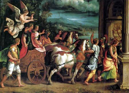 Giulio Romano - The triumph of Titus