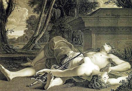 Giulio Romano - The death of Procris