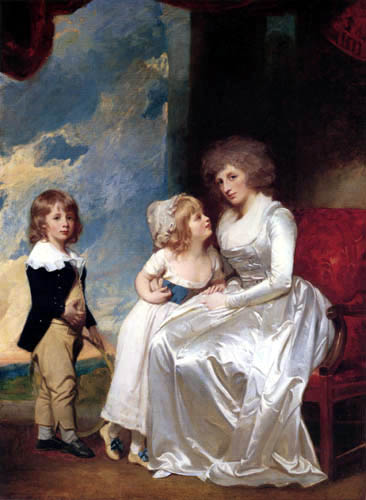 George Romney - The Countess of Warwick and her Children