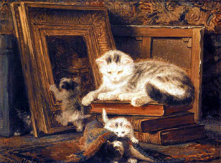Henriëtte Ronner-Knip - A Game of Hide and Seek